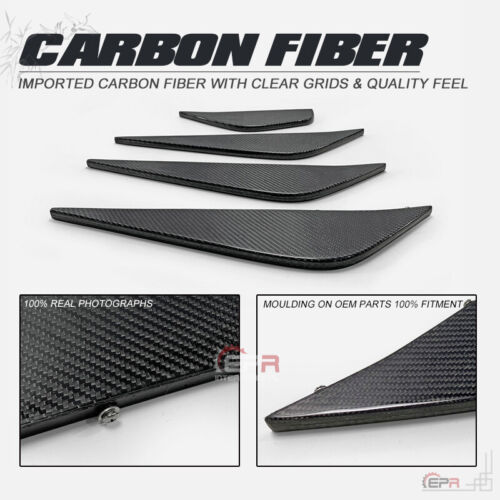For 12-16 Nissan R35 GTR EPA Style Carbon Rear Under Bottom Diffuser Blade Kits