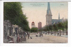 BREMERHAVEN-LEHE-HAFENSTRASSE-m-PAULSKIRCHE-ca1910