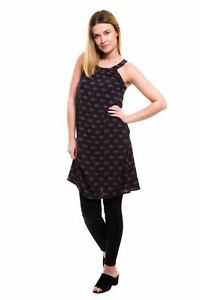 Ex-Fat-Face-Pure-Cotton-Patterned-Halterneck-Dress-Size-6-8-10-12-14-16-P38
