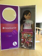 "American Girl GRACE THOMAS DOLL OF THE YEAR 18"" NEW Bracelet Book NIB FAST SHIP"