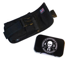 Esee Accessory Pouch Tin Black fits Model 5 or 6 or Laser Strike Knife Sheath
