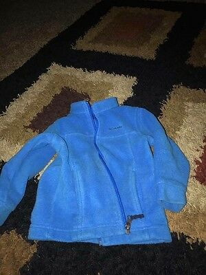 COLUMBIA BREEZY RIDGE II FLEECE HOODIE JACKET AZUL BOYS 12M 18M 24M 2T 3T 4T