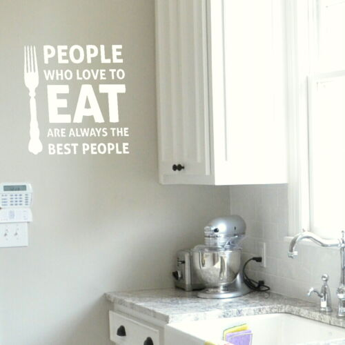 Home Art Decor Decal kq19 People Who Love to Eat Kitchen Quote Wall Stickers