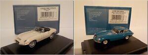 JAGUAR-E-Type-Set-Cambell-Bluebird-Bianco-Aperto-Top-Model-Cars-Oxford-Diecast