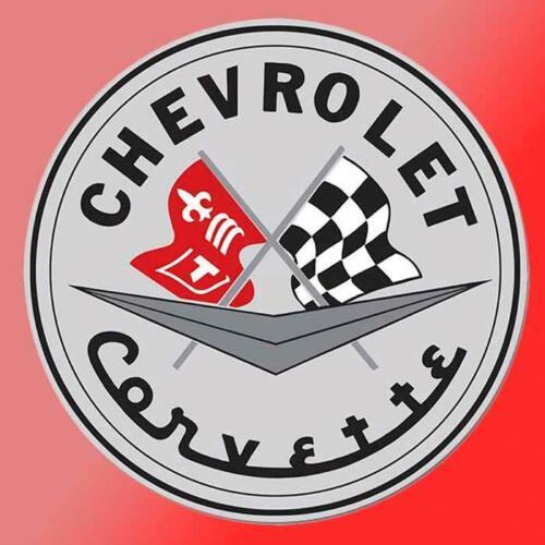 Chevy Vintage Corvette Flag Vinyl Decal Sticker Retro Garage Car Shop Sting Ray