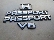 94-02 Honda Passport V6 Logo 8-97149-036 Decal 8971034791 Emblem Script Set of 4