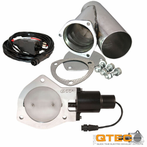 """QTP QTEC25CP Quick Time Performance 2.5/"""" Electric Exhaust Cutout Y-Pipe Kit New"""