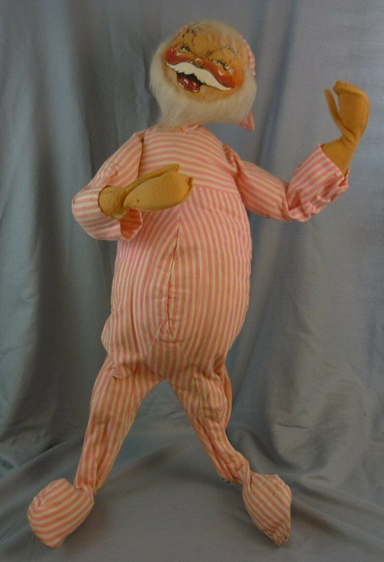 Annalee Dolls 28  Night Slumber Pajama Santa 1960s Christmas AL811