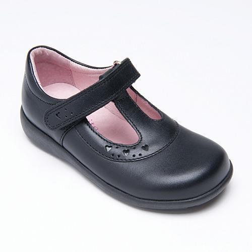 Startrite pre-trinity Chaussures en Cuir Noir École Velcro taille 6,5 e h FREE P/&P