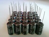 100 PCS 1000UF 1000mfd 35V Electrolytic Capacitor 105 degrees USA Building Supplies