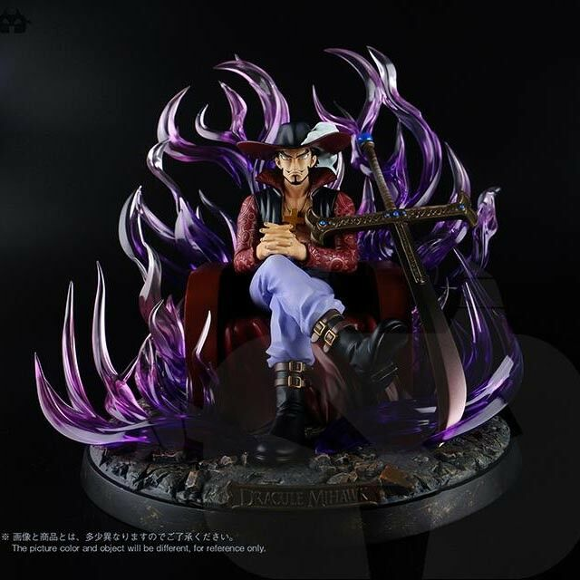 One Piece Dracule Mihawk statue sit PVC figure figures doll doll doll gift toy statue new 21cc0a
