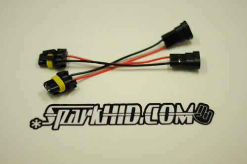 2X H11 TO 9006 bulb conversion Pigtail HARNESS SOCKETs plug /& play E39 E46 M3 M5