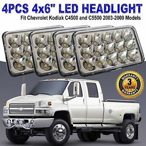 Details about CREE LED Headlights For Chevrolet Kodiak C4500 and C5500  2003-2009 Models 2 Pair