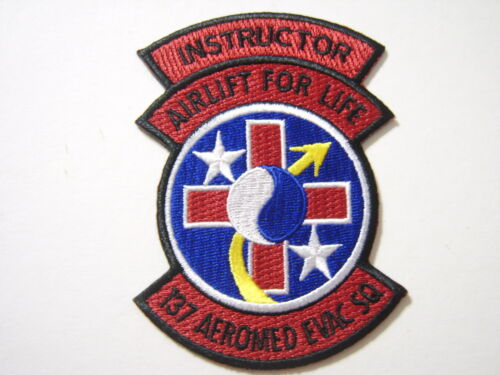137th AEROMED EVACQUATION SQUADRON PATCH USAF INSTRUCTOR FULL COLOR GA18-1