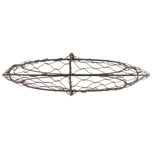 2X Moon Shape Rustic Iron Wire Frame Succulent Pot Iron Hanging Planter HOT