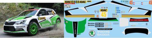 SKODA FABIA R5 KOPECKY ADAC RALLY 2015 DECALS 1//43
