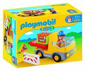 Playmobil-123-Camion-de-Construccion-de-1-2-3-6960-18-meses-Nuevo-Envio-Gratuito-Nuevo-en-Caja
