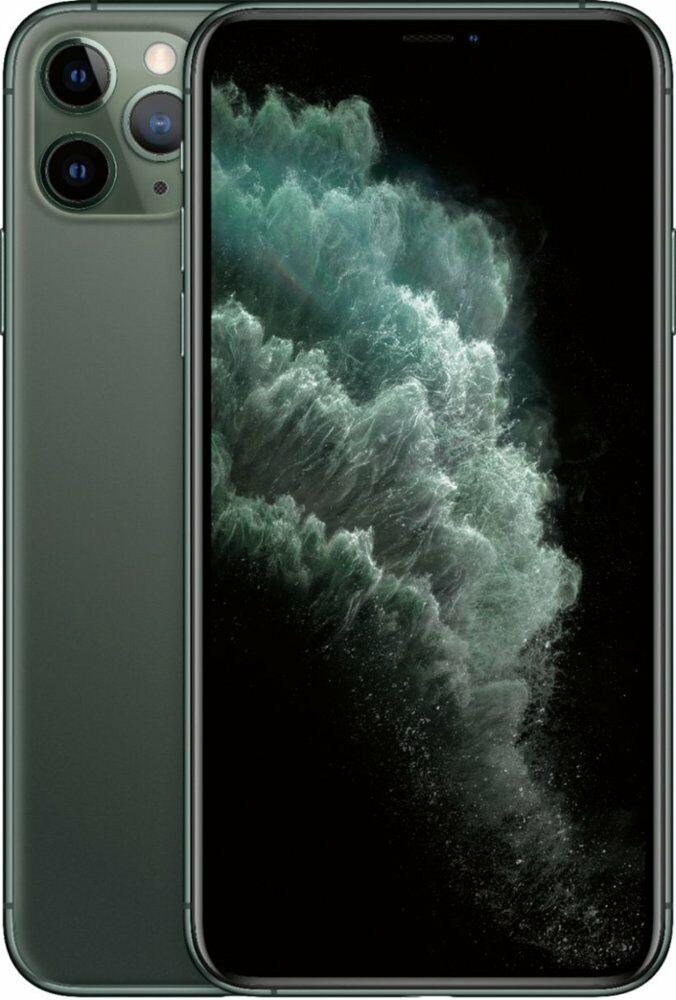 Apple iPhone 11 Pro Max 64GB Midnight Green LTE Cellular Sprint MWG52LL/A