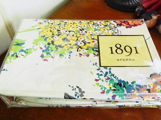 Sferra HYDRANGEA Duvet Cover & Shams Set KING 100% Cotton Sateen  - NEW