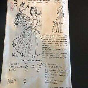 Spadea-1313-Pattern-Vintage-1950-039-s-Halter-Dress-Sz-13-Complete-Mr-Mort