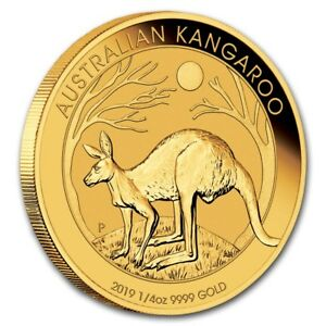1/4 oz Gold Kangaroo 2019 - $25 Australia Gold Coin 999,9