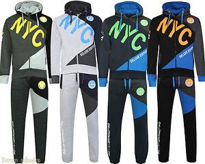 Garçons Skinny Slim Kids Fashion Survêtement Junior Polaire Jogging Bas Sweat à capuche