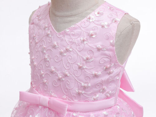 Flower Girl Lace Party Princess Dress Baby Pageant Wedding Bridesmaid Christmas