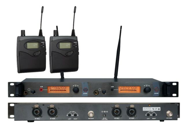 2050 2 Channel Wireless In Ear  Stage Monitor System 1 Transmitter + 1 receiver
