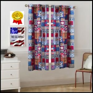 Details about Boys Sport Window Curtain Room Darkening Panel For kids  Bedroom Ball Decor 63x42