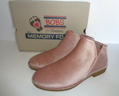 Skechers Bobs New Womens Pink Memory Foam Ankle Boots Shoes RRP £65 Sizes 4 5 6