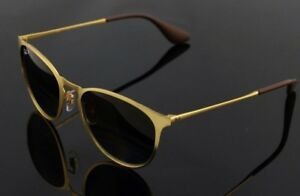 0386d29bb02 POLARIZED New Authentic RAY-BAN ERIKA METAL Gold Brown Sunglasses RB ...