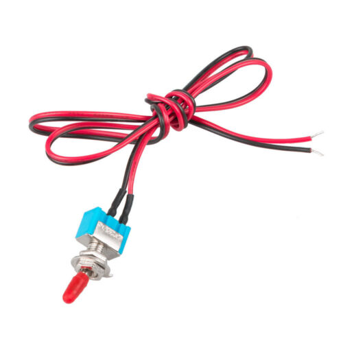 10 x SPST Toggle Switch Wires On//Off Metal Mini Small Automotive Boat Car SF