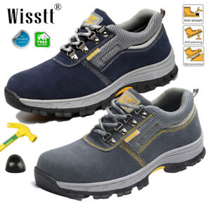 Men-039-s-Safety-Shoes-Steel-Toe-Breathable-Work-Boots-Outdoor-Hiking-Climbing-Shoes