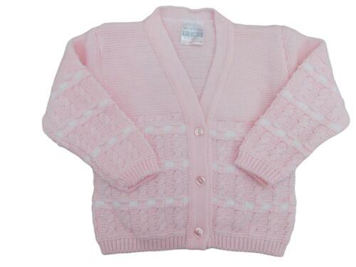 Neu mit Etikett Baby Mädchen Rosa oder Weiß Dick Strickjacke 0-3 M Up 24 Monate