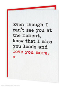 Isolation Card Missing You Thinking Of You Love You Witty Funny Amusing Humour