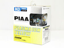 Piaa 2500K 55w=110w Plasma Ion Yellow H3 Halogen Fog Light Bulbs A