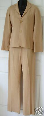 Designer PALMER JONES Womens 2pc Wool Pant Suit Sm