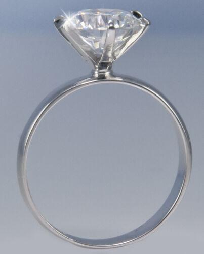 2 ct Extra Brilliant Ring 3mm Band Top CZ Imitation Moissanite Simulant Size 5