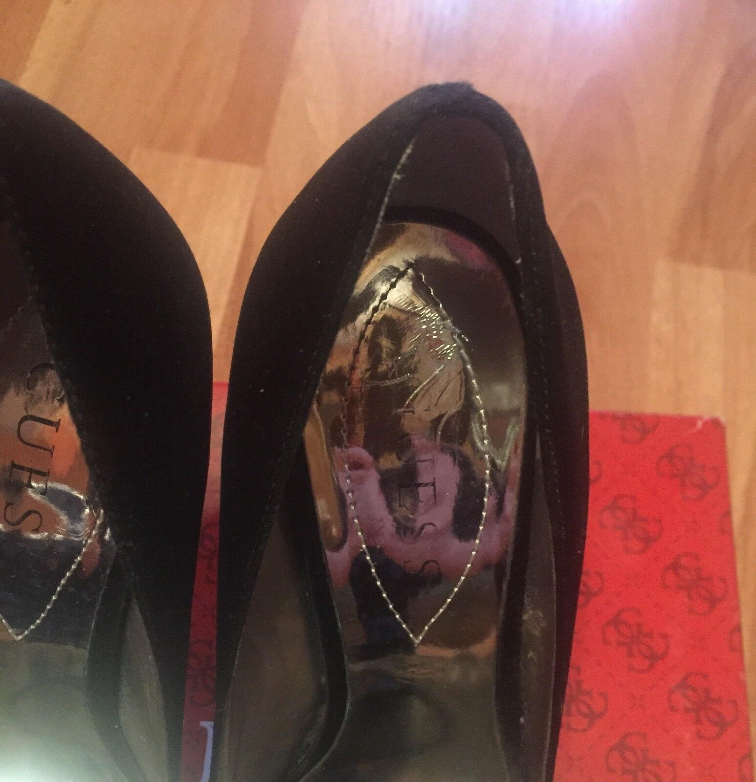 GUESS high heels Schuhes Satin Größe 36 uk 4 6M us 6M 4 in perfect condition 7dc2a4