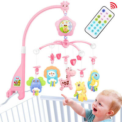 Baby Mobile For Crib With Musical And Lights And Projector For Pack And Play Lovely Luster