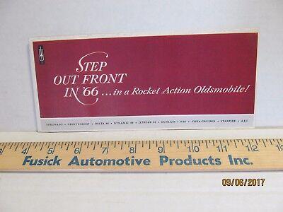 1966 Oldsmobile Dealership Pocket Sales Brochure Cutlass 442 Toronado 88 98 F-85