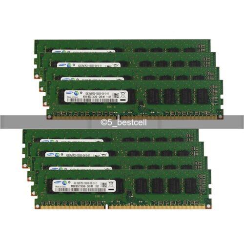 Samsung 24GB 6X4GB DDR3 1333MHz PC3-10600E 240pin CL9 ECC Unbuffered Memory ram