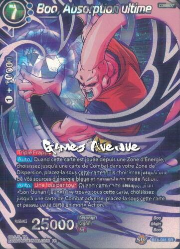 Dragon Ball Super Card Game Boo Absorption ultime BT6-041 SR//VF