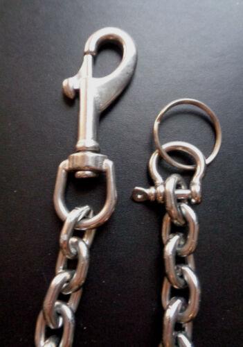 Geldbeutelkette Hosenkette Schlüsselkette Alu Biker Rockabilly 2 reihig