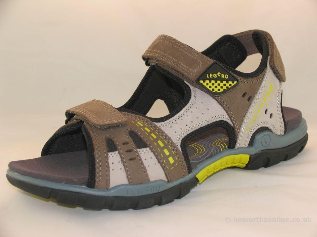 Men's Legero 00790 Truffle Brown Leather Open-Toe Walking Sandals