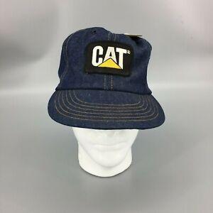 9828896b10cf3 Image is loading Vintage-CAT-Caterpillar-Diesel-Denim-Snapback-Trucker -Baseball-