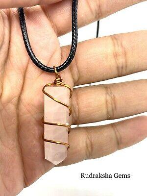 Clear Quartz Point Copper Necklace