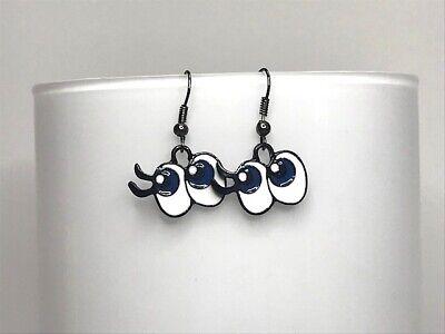 Betty Boop enamel Tibetan silver earrings
