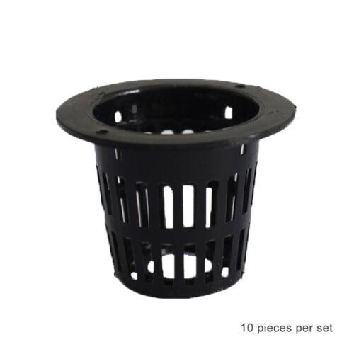 10pcs Mesh Pot Net Cup Basket Hydroponic Plant Grow Clone Kit Hanging
