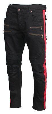 NEW With Tags Men/'s RockStar Biker Jeans YING Black Grey RSM235TBV